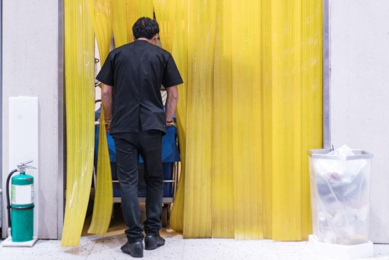 Strip Curtains Installation